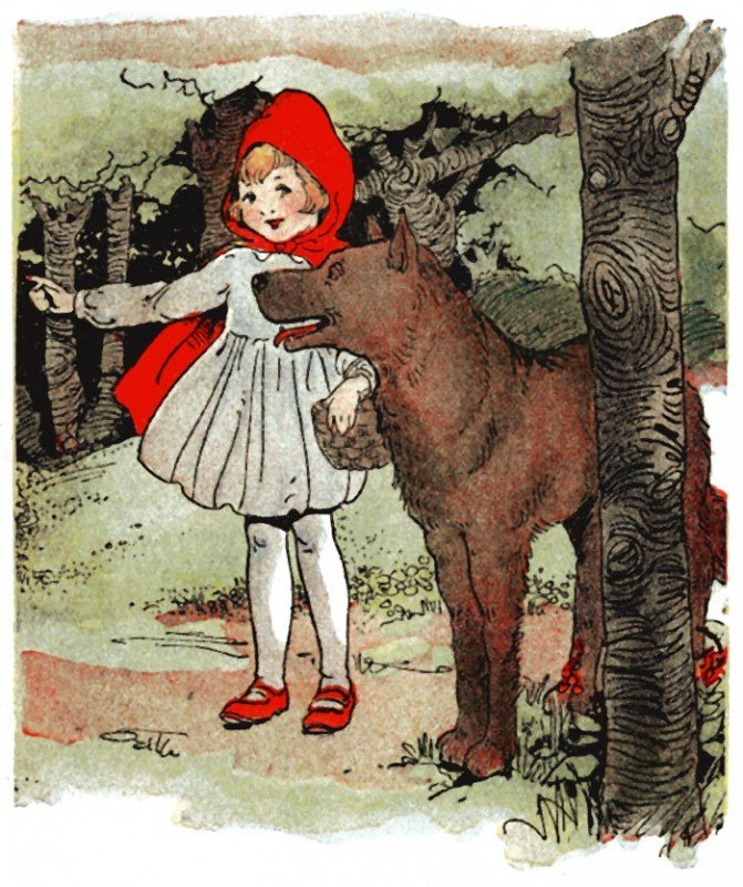 The psychopath and love, portrayed as the big bad wolf preying on little red riding hood