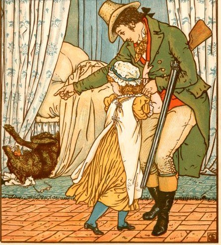 Illustration of little red rifing hood being rescued from the wolf, for the article Healing after a relationship with a psychopath