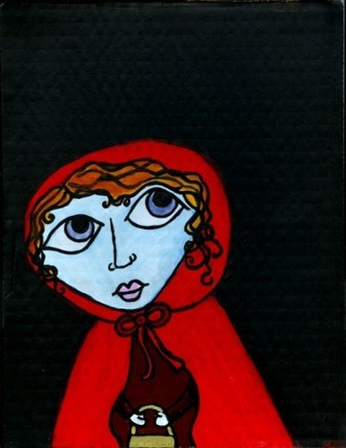 Vulnerable red riding hood image by Maisy Marrs