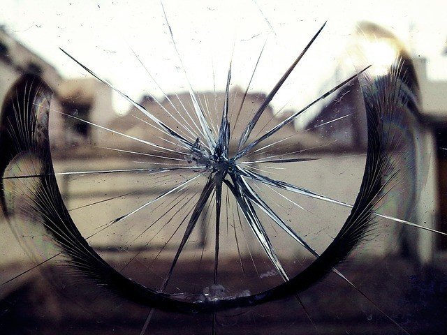 landscape as seen through a cracked lens