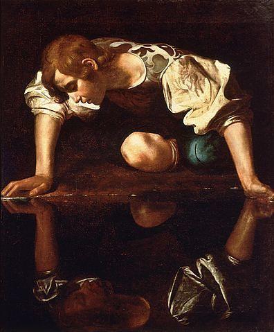 396px-Narcissus-Caravaggio_(1594-96)