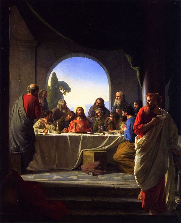The-Last-Supper, Carl Bloch Judas on the right