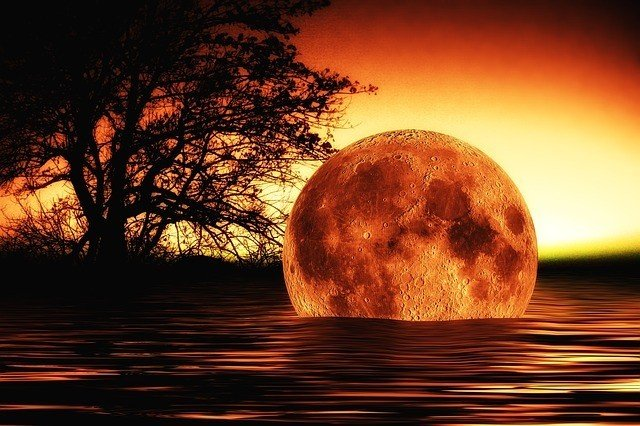 Surreal photo of the moon floating in a lake, for the article Your Own Personal Apocalypse After a Psychopath