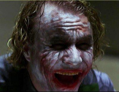 evil joker grin