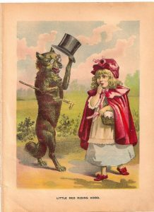Charming wolf wearing a tophat
